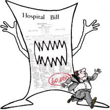 Hospital bill image from The Accounting Student