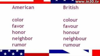 Anglo-American Spelling Comparison from Youtube