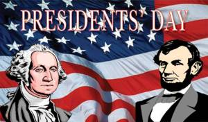Presidents Day image from Houchin Community Blood Bank