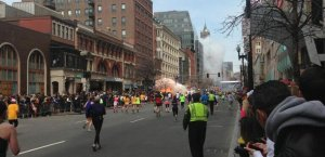 This image was taken by Twitter user boston_to_a_T and shows the moment of the explosion from a distance.