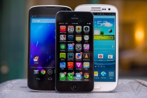 Smartphone lineup image from The Verge