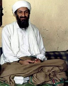 Osama bin Laden portrait from Hamid Mir