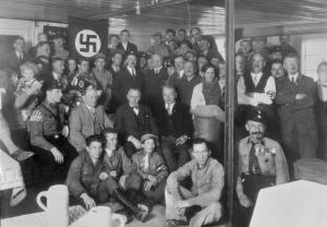 Early Nazi Party meeting image from Student Handouts