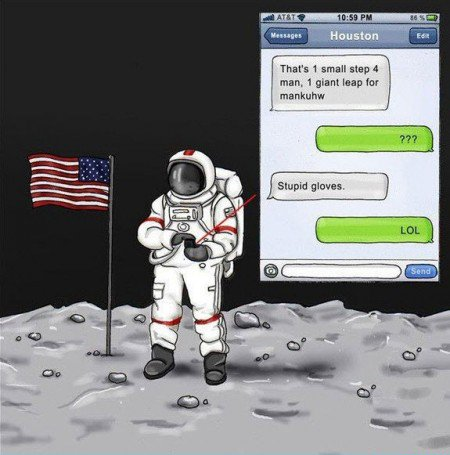 Texting gag from Red Oxygen