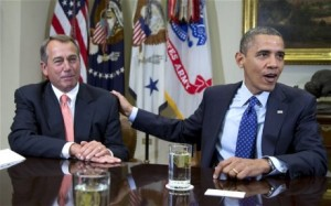 Obama and Boehner image from The Telegraph