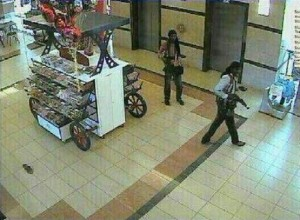 This CCTV image of the Westgate Mall attackers was posted on Al-Shabaab's Twitter feed.