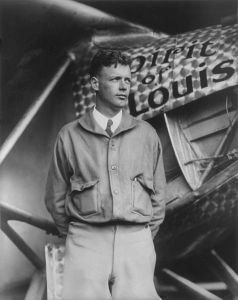 Charles Lindbergh image from the Library of Congress