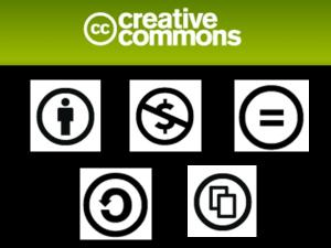 Creative Commons symbols from Techntuit