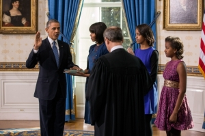 Like this image of President Obama's inauguration, taken by White House photographer Pete Souza
