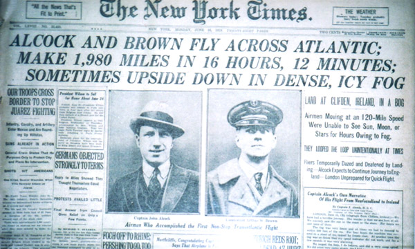 NY Times image from Aviation History