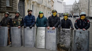 Ukrainian protesters now control the streets of Kiev. Image from Jeff J Mitchell and Getty Images.