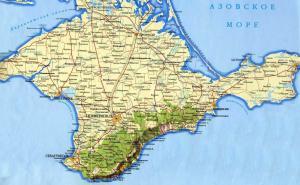 A map of Crimea