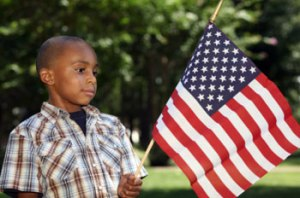 Kid with Flag image from Woodsmen of the World