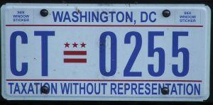 Washington DC licence plate image from Krokodyl