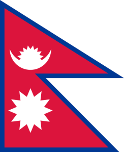 Flag of Nepal image from Wikipedia