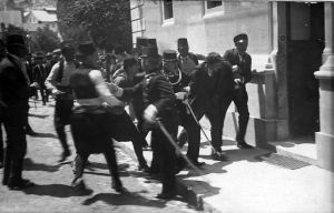 The arrest of Gavrilo Princip by Austrian authorities
