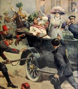 Assassination of Franz Ferdinand image by Achille Beltrame from Wikipedia