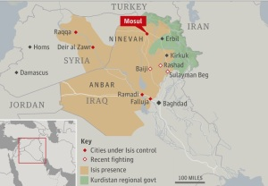 Map of the areas under ISIS control by Doug Mataconis