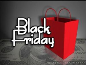 Black Friday logo from Purple Slog