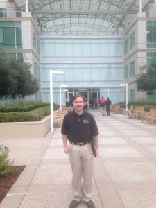 Me at the main entrance of the company that made my phone.