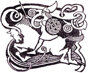Valkyrie on horseback image from Wikimedia Commons