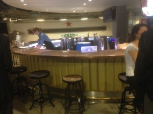 This is Zynga's in-house bar where they brew their own beer and liquor and serve it to employees.