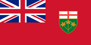 Flag of Ontario from Wikipedia