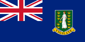 Flag of the British Virgin Islands from Wikipedia