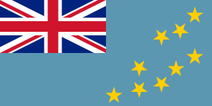 Flag of Tuvalu from Wikipedia