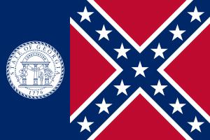 Flag of Georgia 1956 image from Wikipedia