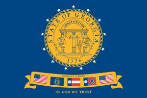 Flag of Georgia 2001 image from Wikipedia