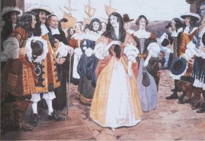 The Arrival of the French Girls at Quebec, 1667 by C.W. Jefferys