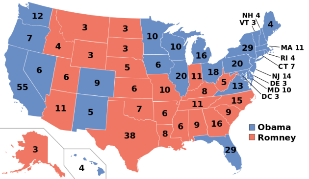 2012 Election map by Gage Skidmore