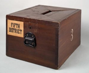 Ballot box image from the Smithsonian Institution