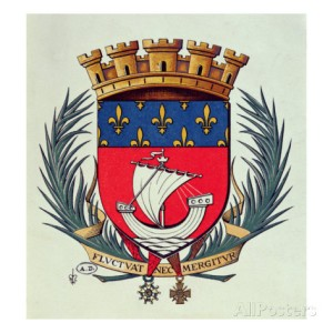 Paris coat of arms from Allposters