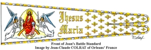 Reconstruction of St Joan of Arc flag by Jean Claude Colrat