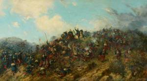Battle of Trevino painting by Francisco Oller y Cestero