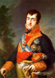 King Ferdinand VII portrait by Vincente Lopez