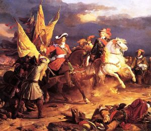 Philip V in battle by Jean Alaux