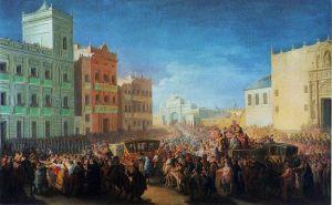 King Ferdinand VII returning to Spain