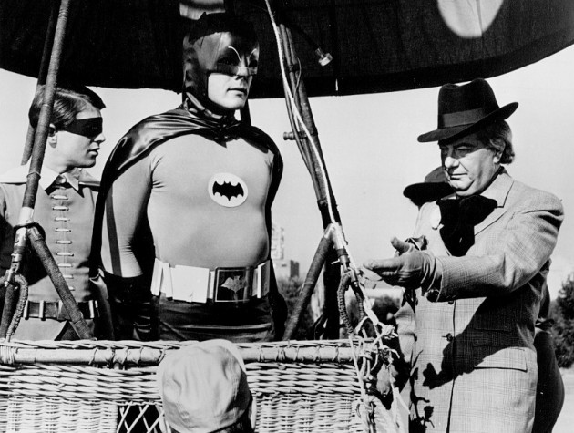 Miller's Batman would never ride in a hot air balloon.