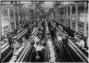 Cotton mill image from the National Archives and Records Administration