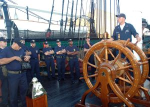 USS Constitution demonstration image from the US Navy