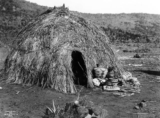 Wickiup image by Edward S Curtis
