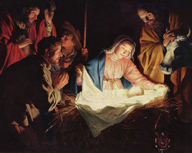 """Adoration of the Shepherds"" by Gerard van Honthorst"