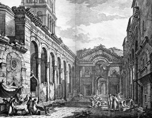 Diocletian's Palace sketch by Robert Adam