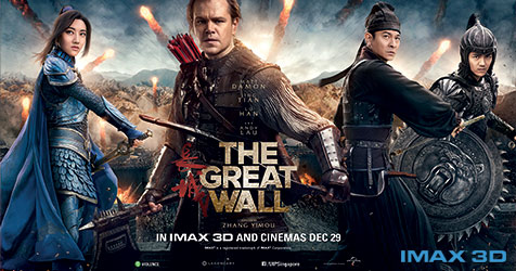 The Great Wall poster from Shaw Online