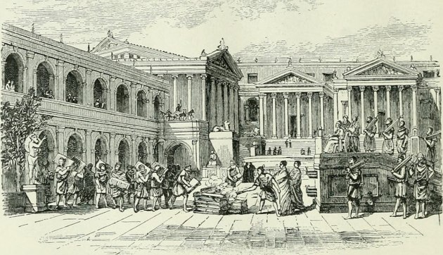 Ancient Rome scene illustration by Edgar S Shumway