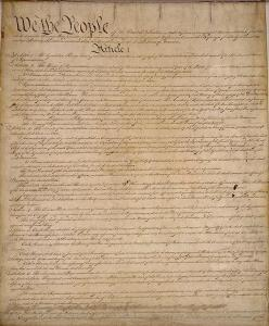 United States Constitution image from Wikimedia Commons