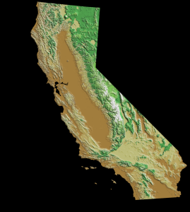 California map from the USGS
